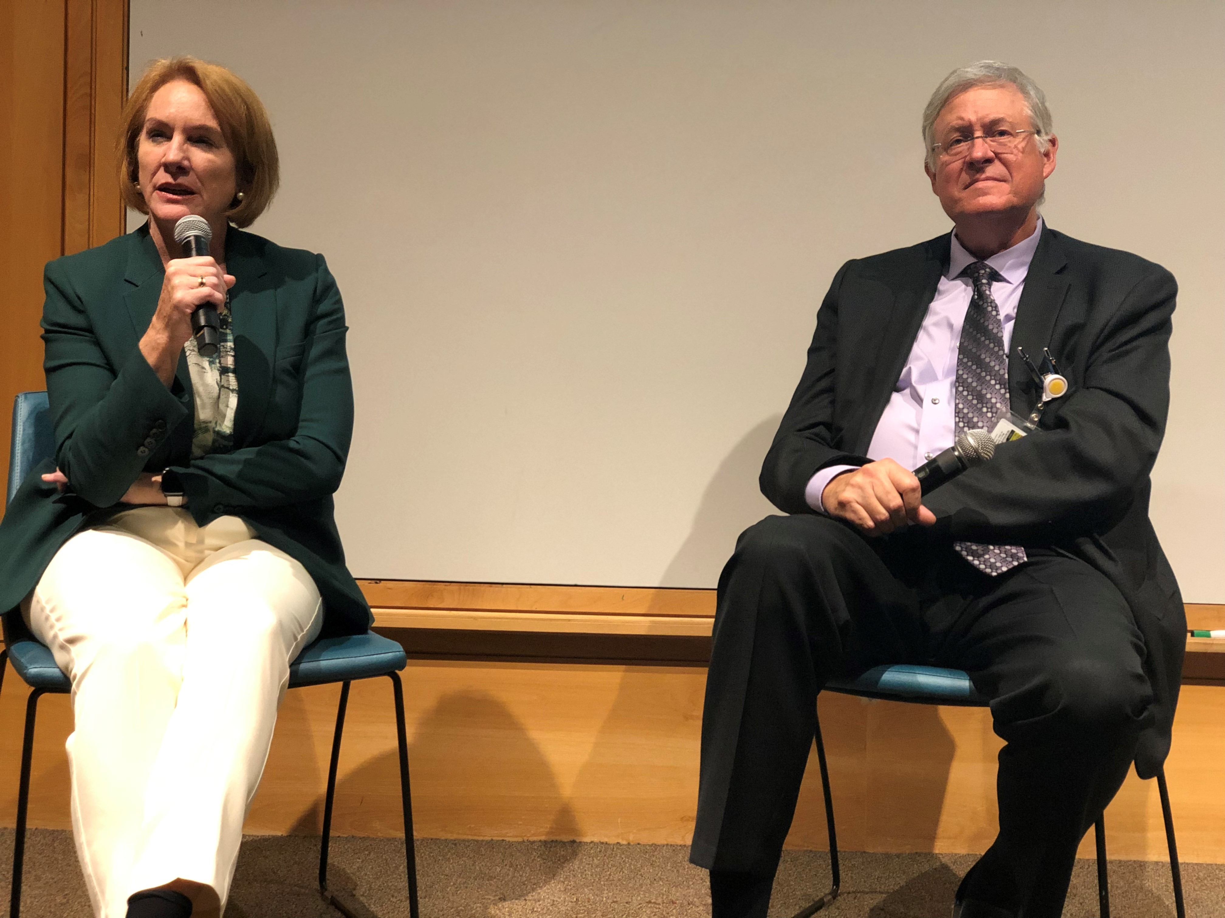 Seattle Mayor Jenny Durkan and oncologist, Dr. David Byrd