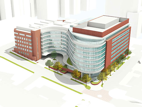 SCCA building expansion rendering